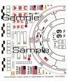 Mars Lander style waterslide decal sheet for Estes Outlander