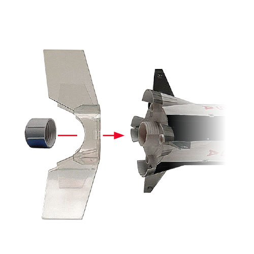 Clear Plastic Fin Unit