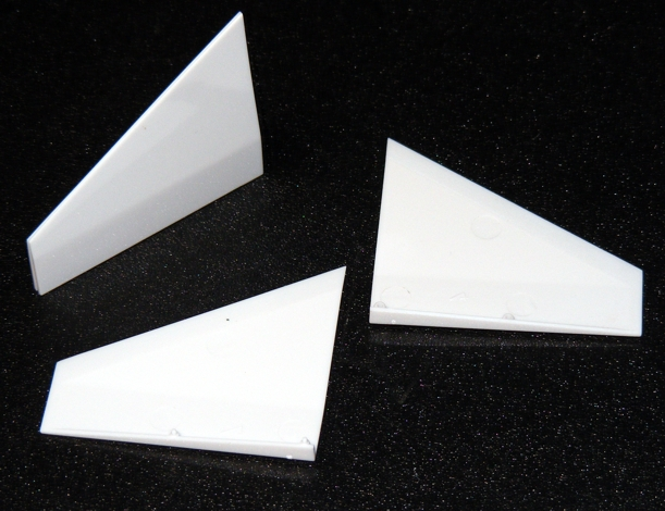 New 2-piece molded plastic fins