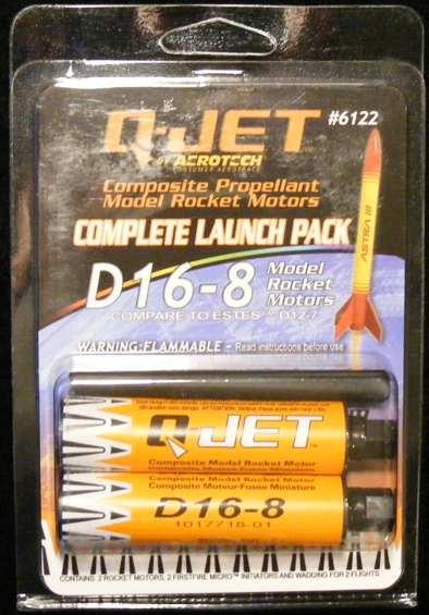 Quest Q-Jet D16-8 Rocket Engines (2pk) [QST 6122] - $9 83