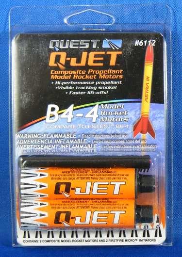 Quest Q-Jet B4-4 Rocket Engines (2pk) [QST 6112] - $7 37